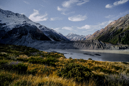 Aoraki Mount Cook National Park, South Island, New Zealand Stock Photo