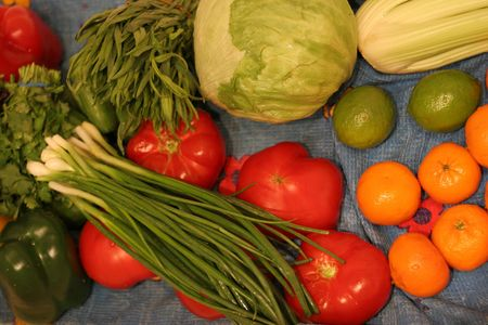 bl: fresh fruits and vegetables