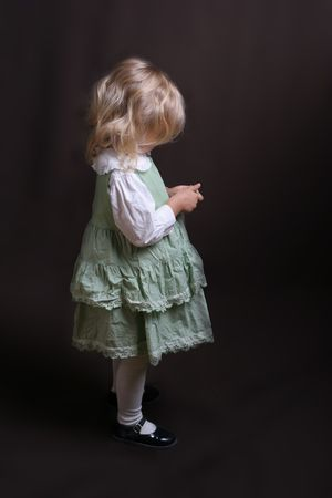 little girl standing