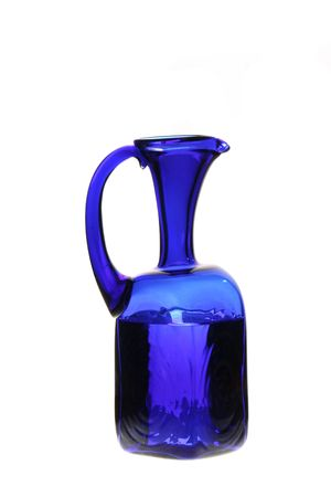 wather: blue jug with wather  Stock Photo