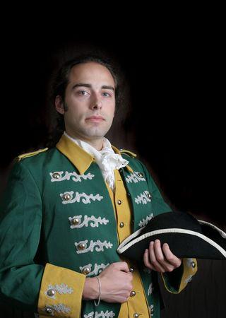 handsom: Romanticismo de servicio militar del siglo XVIII o XIX