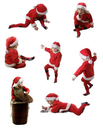 Seven little Santa Helpers  Stock Photo
