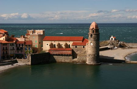 castle in Collioure - south of France photo