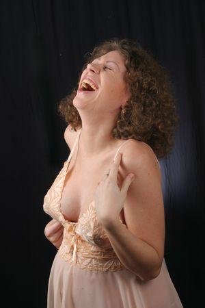 happynes: happynes - emotions of pregnancy Stock Photo