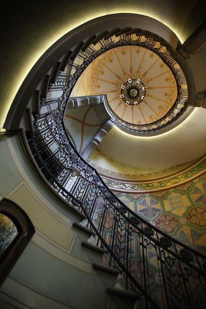 modern spiral staircase (constracted at 1904)