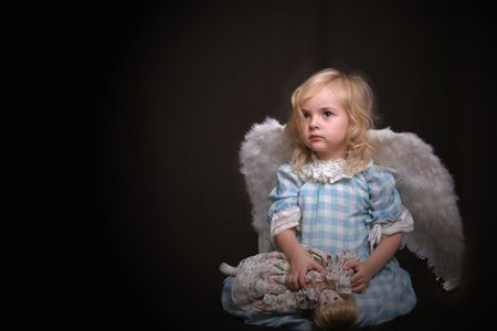 glance: lonely angel in darkness