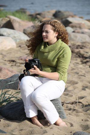whithe: hermosa fotograf�a cerca del mar