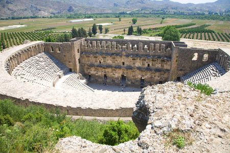 OLd teater Aspendos - constracted by greec architect Eenon in 155  durring Mark Aurelius time