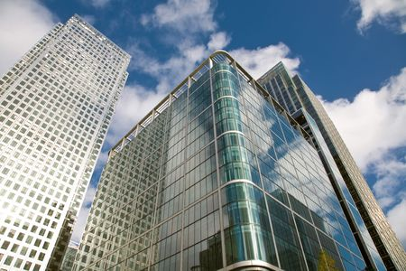 Skylines of finansal center - Canary Wharf, London, UK