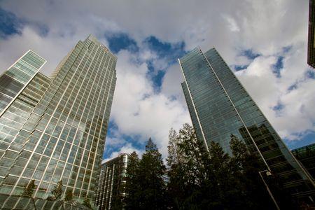 Skylines of finansal center - Canary Wharf, London, UK Stock Photo - 6023507
