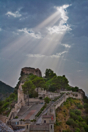 Xativa castle (Spain) on sunshine, with a beautiful light photo