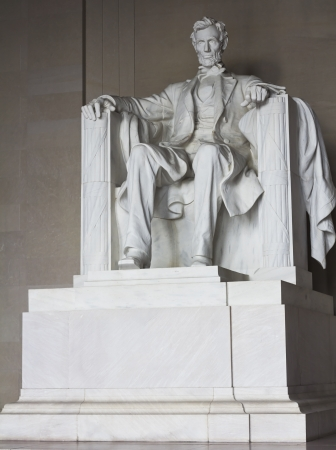 abe: Lincoln memorial statue, Washington, DC, the United States