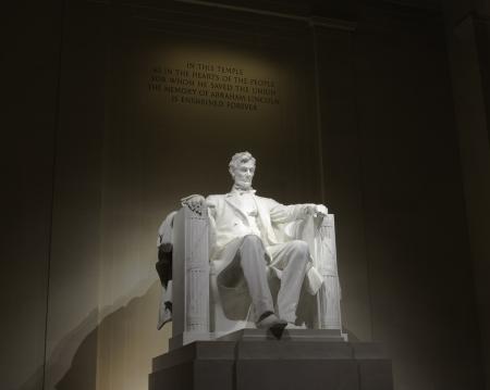 honest abe: Lincoln memorial statue, USA, Washington, DC Stock Photo