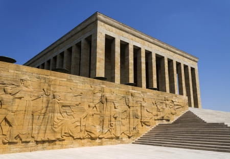 mausoleum: Ankara, Turkey - Mausoleum of Ataturk, first president of the Republic of Turkey. Stock Photo
