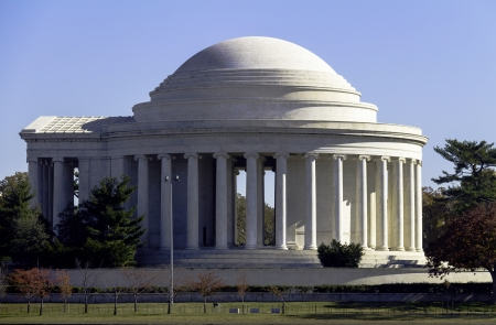 Jefferson Memorial in Washington DC, US.