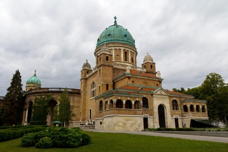 Church of Christ the King, Mirogoj cemetery Zagreb, Croatia. photo