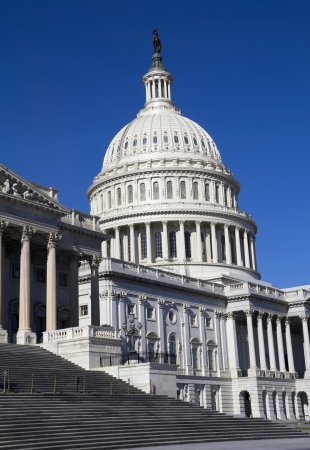 Capitol Building - side view, Washington, DC, USA.