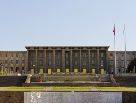 congressman: ANKARA - MAY 27: Turkish Parliament Building facade on May 27, 2013 in Ankara , The Grand National Assembly of Turkey (in Turkish TBMM) is the unicameral Turkish legislature