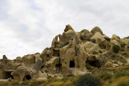 limestone caves: Limestone caves - Cappadocia, Goreme, Turkey.