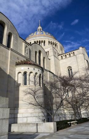 immaculate: Bas�lica del Santuario Nacional de la Inmaculada Concepci�n - vista lateral, Washington, DC, EE.UU..