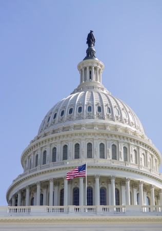 United States Capitol Building Dome - detail, Washington, DC, USA. Editorial