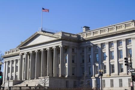財務省の建物、米国ワシントン DC、 報道画像