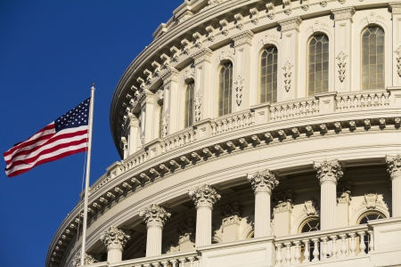 The Capitol Building Dome - Detail, Washington, DC, USA. Editorial