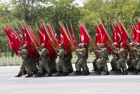 ANKARA - AUG 30: Turkish Victory Day military parade on August 30, 2013 in Ankara, Turkey.