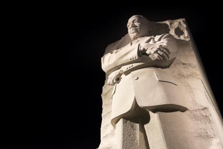 nonviolent: WASHINGTON DC - NOV 24: Martin Luther King Jr. Monument in Washington DC , at night United States.Washington DC on November 8, 2011.