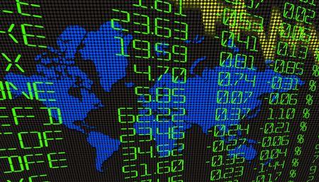 A Finance Spreadsheet Tech Graph Art Background photo