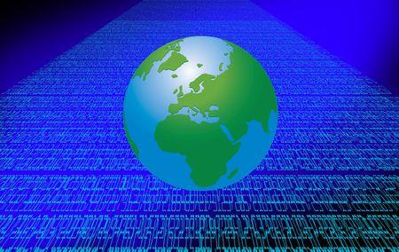 World Spreadsheet Tech Graph Art Background Stock Photo - 6452009