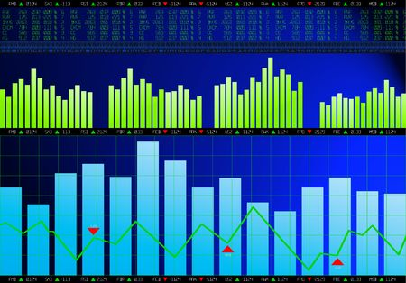 finance chart background photo
