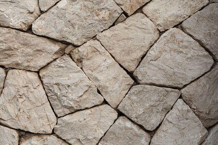 Moderne nahtlose Natursteinmauer, Hintergrund und Textur alter Backsteinmauern.