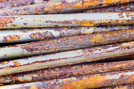 corrode: few rusty nails close up Stock Photo