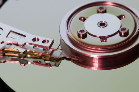 diskdrive: Hard disk drive - head and surfaces.