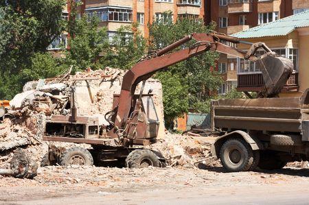 scavenging: demolition of dilapidated shelters, scavenging