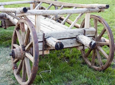Old wooden vehicle - a cart photo