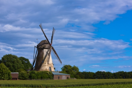 Windm� old mill with grain fields