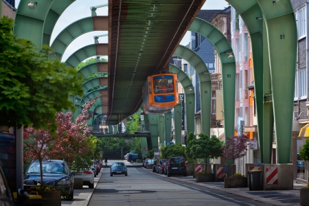 Wuppertal suspension railway Stock Photo