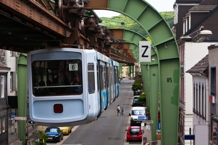 Wuppertal suspension railway Stockfoto