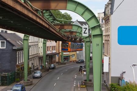 Wuppertali függővasút Stock fotó