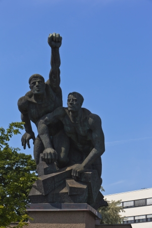 rostock: Workers monument in Rostock - monument of workers in the city of Rostock