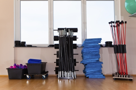 Dumbbells and small stuff for sports course