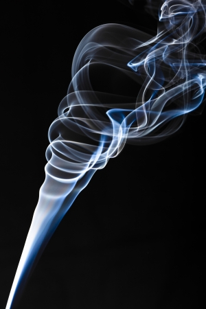 incense smoke plume one - column of smoke Stock Photo - 17511608