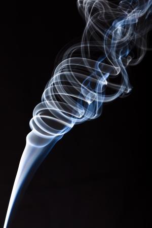 incense smoke plume one - column of smoke Stock Photo - 17511607