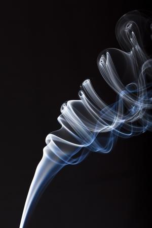 incense smoke plume one - column of smoke Stock Photo - 17511605