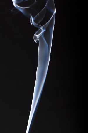 fog one incense stick - a column of smoke of incence stick Stock Photo - 17511603