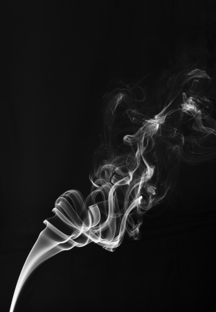 fog one incense stick - a column of smoke of incence stick Stock Photo - 17511596