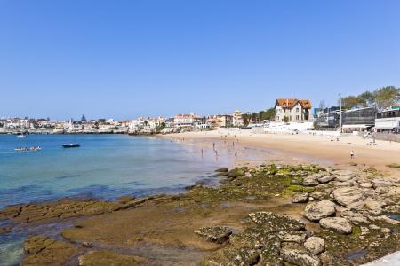 beach at Estoril Portugal Stock Photo