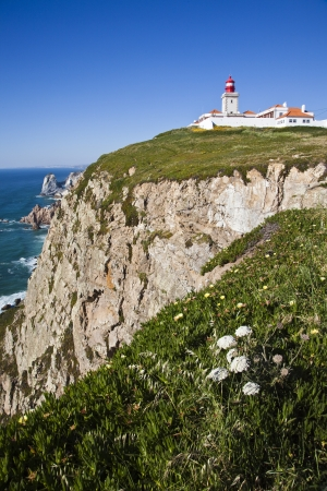 savety: lighthouse cabo da roca in Portugal